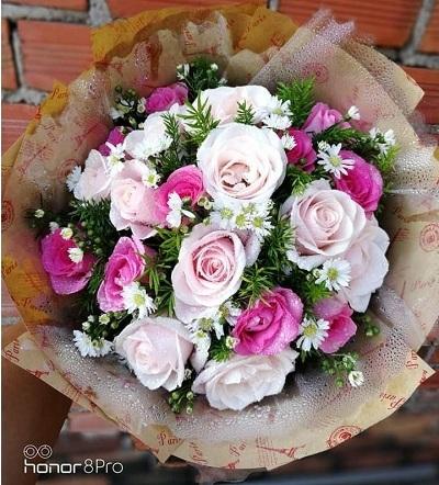 Bó hoa tình yêu đẹp tại điện hoa Long An