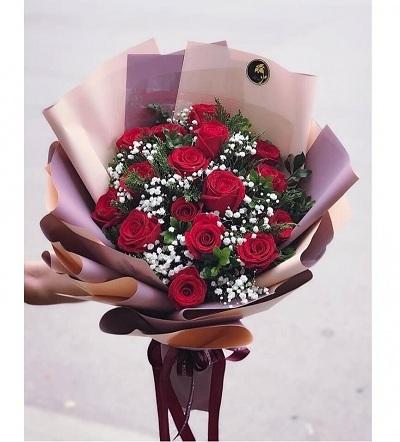 bó hoa tình yêu đẹp tại shop hoa Đà Nẵng