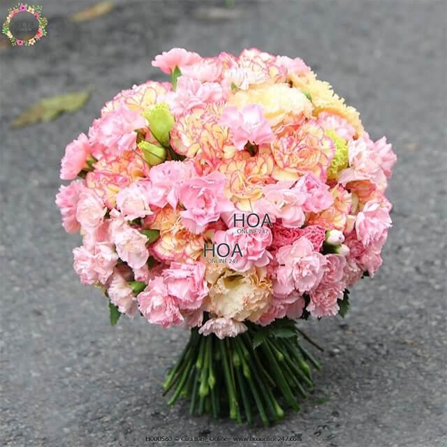 hoa cát tường hoa cầm tay cô dâu