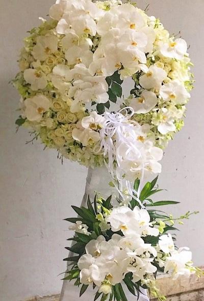 hoa chia buồn tại shop hoa cà mau